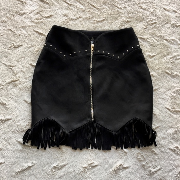 5bb59646ea Missguided Skirts | New Studded Suede Fringe Skirt 2 | Poshmark